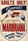 1930's Vintage Marihuana Marijuana Poster Adults Only Movie Propaganda Anti Drug