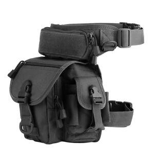 Military Tactical Drop Leg Bag Pack Pouch Waist Belt Mens Waterproof Outdoor Bag