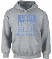 Unisex Light It Up Blue Hoodie Hooded Sweatshirts for Autism Awareness
