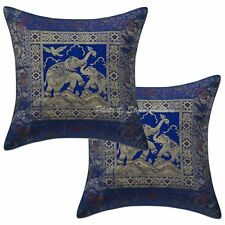 Decorative Brocade Silk Elephnt Indian Cushion Cover Pillow Cases cover 16 Throw