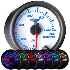 52mm GlowShift White 7 Color Oil Pressure Gauge w Sensor - GS-W704