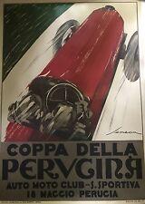 Original Razzia Poster Coppa Della Car poster On Linen