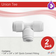 "Union Tee 1/4"" Fitting Connection Reverse Osmosis Water Filter T connector Qty 2"