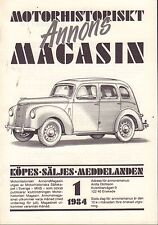 Motorhistoriskt Magasin Annons Swedish Car Magazine 1 1984 Saab 032717nonDBE