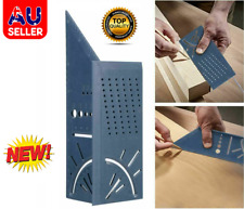 New Wolfcraft 3D Mitre Angle Measuring Square Size Measure Tool With Gauge Ruler