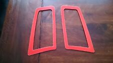 FOCUS RS MK2 STYLE ABS PLASTIC UNDER BONNET VENT TRIM PLATES COLORADO RED GLOSS