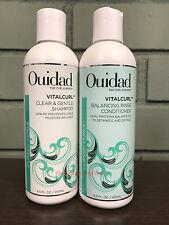 Ouidad VITALCURL Clear & Gentle Shampoo & Balancing Rinse Conditioner 8.5oz DUO