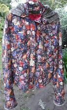 OILILY Floral Print Puffer Jacket Size 40 L