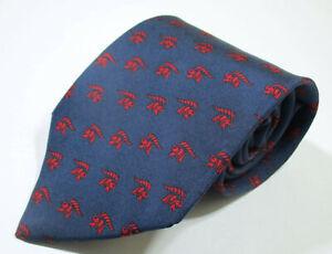 Salvatore Ferragamo Elephant Animal Pattern Blue Color Silk Necktie Tie