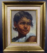 Jeanne BRANDSMA enfant gitan à boucle d'oreille Gypsy child with earring c 1950