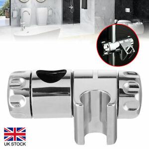 Adjustable Chrome Replacement Shower Head Holder Bracket Slider Rail Kit Clamp
