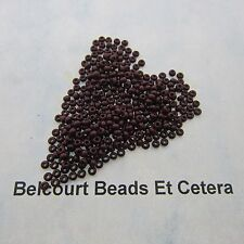 25 Grams Dark Brown Opaque Size 10/0 Czech Glass Preciosa Seed Beads