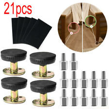 21PC Support Fixed Bedroom Bed Frame Bedside Threaded Adjustable Anti-shake Tool
