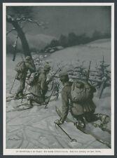 Hans Treiber dt. Alpenkorps Skiläuferpatrouille Vogesenfront Winterfeldzug 1915