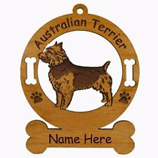 Australian Terrier Dog Breed Ornament Personalized With Your Dogs Name 1424