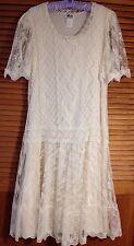 Vintage 70s Gilberti Boho Wedding Dress Flapper Hippie Festival Ivory Lace