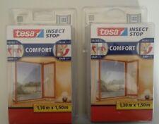 2 Mallas Mosquitera TESA CONFORT Insect Stop para ventanas1,50 X 1,30 cada una.
