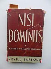 1946 Nisi Dominus Barbour Palestine Rrovenance Sir John Glubb Pasha Old Book DJ