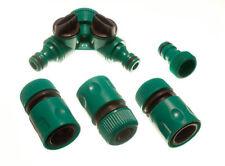 3 X Buchse Schnellreparatur Gartenschlauch Conectors 1 Doppel Wasserhahn und 1