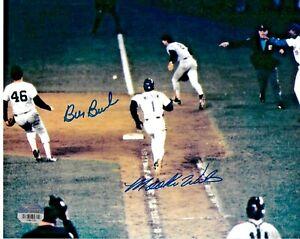 Bill Buckner and Mookie Wilson Signed 8x10 1986 World Series Photo Fanatics Holo