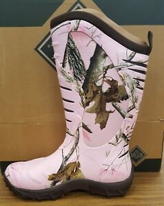 Muck Women's Pursuit Stealth Boot in Pink Realtree APG Camo SIZE 10's
