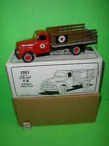 TEXACO PIPELINE #1 IN SERIES / 1951 FORD F-6 STAKE TRUCK FIRST GEAR 19-1237 C