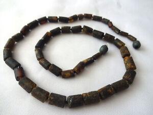 """Men's Baltic amber necklace elegant unpolished  solid  19.5"""""""