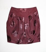CUE Designer Burgundy Pleat Short Skirt Size 6 LIKE NEW #SJ20
