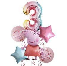 6 Folienballons für 3. Geburtstag 🎁 Peppa Wutz wiederverwendbar Ballon Party