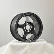 4 PCS ROTA WHEEL SLIPSTREAM 16X7  4x108 40 63.35 FBLK  FORD FOCUS FIESTA