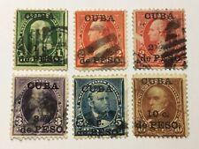 old stamps  CARIBBEAN     x  6 surcharged USA stamps
