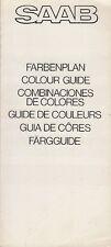 Saab Colour & Trim 1973-74 Multilingual UK Market Foldout Brochure 96 95 99