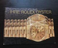 Ihre Rolex Oyster Buch Your Rolex Oyster Booklet 1989-2008 in German auf Deutsch