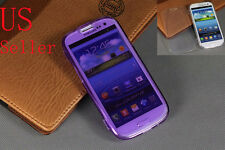 For Samsung Galaxy III S3 I9300 Soft TPU Silicone Clear Flip Cover Case USA