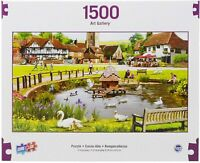 "1,500 Piece Jigsaw Puzzle - Art Gallery Swans in The Park (37"" x 21.62"")"