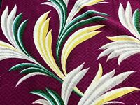 SALE Miami Beach Art Deco Tropical Barkcloth Vintage Fabric Drape Curtain 4Avail