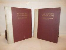 ARTE Lionel Edwards: MY HUNTING SKETCH BOOK 2 volumes 1928 Es. N.1 Signed