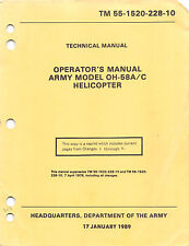 1997 OH-58A/C Operator's Manual Flight Manual Helicopters Pilot's Handbook - CD