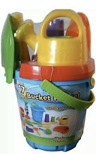 Made For Fun Sand & Water Bucket Playset with Large Shovel 17pcs NEW