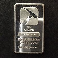 Pan American Silver Corp. 10 Grams Fractional Silver Bar Ingot A4423