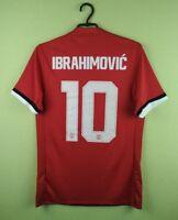 Zlatan Ibrahimovic jersey SMALL Manchester United shirt 2017/2018 home adidas