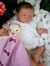 REBORN LILY BY DREAM*BABY*DOLLS DARK BROWN PREMIUM MOHAIR VEINING STUNNER!!