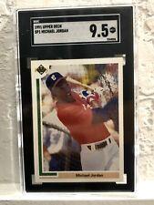 1991 Upper Deck Michael Jordan Baseball Rookie #SP1 SGC 9.5 MINT + WHITE SOX