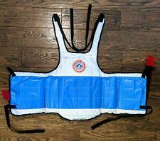 Martial Arts Chest Guard Reversible Body Protector Taekwondo Sparring Gear Pad
