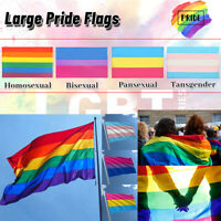 3x5ft Rainbow Flag LGBT Colorful Flag Lesbian Gay Pride Peace Home Decor GL
