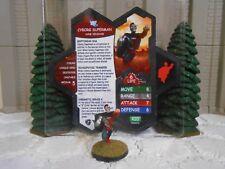 Heroscape Custom Cyborg Superman Double Sided Card & Figure w/ Sleeve DC
