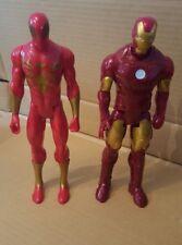 """MARVEL - IRON MAN / IRON SPIDER - 12"""" TITAN TOY ACTION FIGURES"""