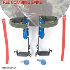 Pair 2 Gears Tree Climbing Spike Set Adjustable Lanyard Rope Rescue Belt New