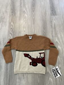 NEW Vintage Ground Control Farm Tractor Sweater Boy's Size Large (7) Made in USA