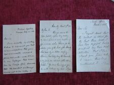 1850's Henry Drummond Wollf Letters (3) Autograph Signed Original Museum  fc2a
